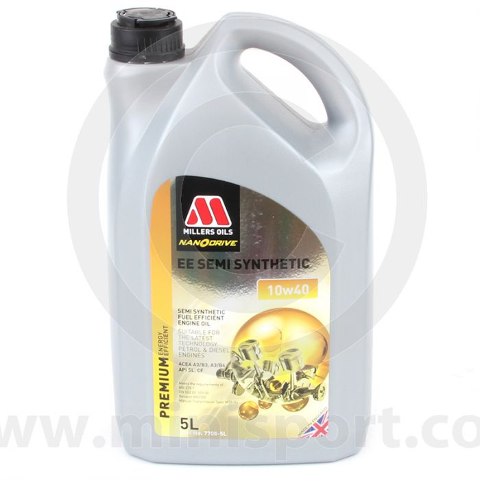 MIL10/40EE Miller Oil -  10W40 EE Semi Synthetic Nanodrive (5Litres) (7708GGB)