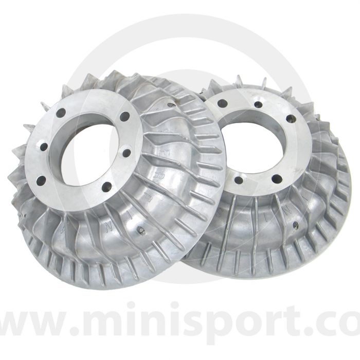 Pair of Superfin Mini alloy brake drums