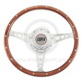 Cooper Wood Steering Wheel with Horn