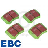 "EBCDP2102 A set of EBC Greenstuff performance front brake pads for Mini Cooper S and early 1275GT models fitted with 10"" wheels. (GBD103)"