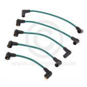 Green - 7mm Silicone Spark Plug Lead Set 81-96