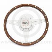Classic Mini Cooper Monza Wood Steering Wheel