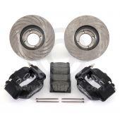 Black 7.9'' Mini Sport Vented Brake Kit with Alloy Calipers