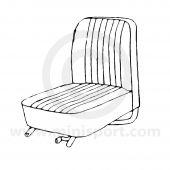 Classic Mini Front Seat Squab Cover