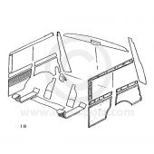 Interior Panel Kit - Rear - Mini Traveller 60-62
