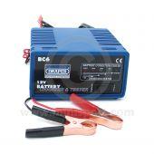 Draper 12v Battery Charger & Tester - 6A