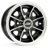 5 x 12 Dunlop D1 Alloy Wheel - Black with polished rim