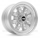 "Classic Mini 6"" x 10"" Minilight Wheel in Silver with Polished Rim"