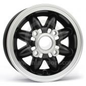 4.75 x 10 Rose Petal Wheel - Black with Machined Face