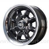 5.5 x 12 Superlight Wheel - Black/Polished Rim