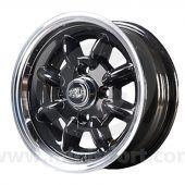 5 x 12 Superlight Wheel - Black/Polished Rim