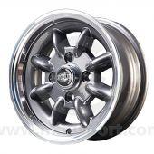 5 x 12 Superlight Wheel - Gunmetal/Polished Rim