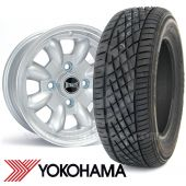 "WTP6X13KIT1 6"" x 13"" silver Ultralite alloy wheel and Yokohama A539 tyre package"