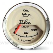 MCPIS.PL2328-03C John Cooper Oil Pressure Gauge - Magnolia and Chrome
