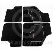 Cooper Logo Luxury Binded Carpet Mat Set
