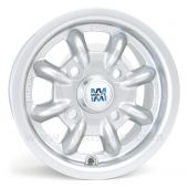 "4.5"" x 10"" silver original Minilite Cooper S alloy wheel and Yokohama A008 tyre package"
