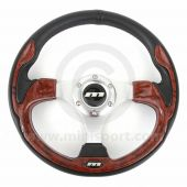 Mountney Sport Mini Steering Wheel - Burr Walnut Inset