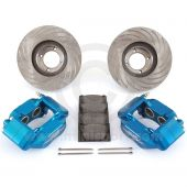 Gunmetal 7.9'' Mini Sport Vented Brake Kit with Alloy Calipers