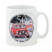 PH34.050 Paddy Hopkirk Mini Mug showing the Col Du Turini, as stage on the famous Rallye Monte Carlo.