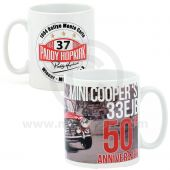 PH34.065SET Set of 4 Mugs celebrating 50th anniversary of Paddy Hopkirks famous victory of the 1964 Rallye Monte Carlo