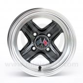 Revolution Black 6'' x 12'' Wheel - Deep Dish