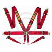 "Sabelt Saloon Series 6 Point Harness - 3"" Waist Webbing - Red"