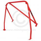 RED - RHD detachable diagonal Rear Roll Cage