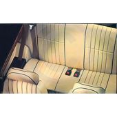 Rear Seat Cover - Leather Faced - Vertical Flute - Mini 96-00