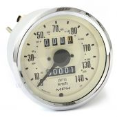 Smiths Classic Mini Speedo 140mph - 80mm - Magnolia