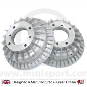 Mini Rear Brake Assembly & Superfin Brake Drums