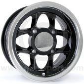 5 x 10 Mamba Alloy Wheel - Black with Polished Rim