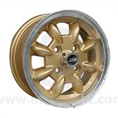 5 x 12 Minilight Wheel - Gold/Polished Rim