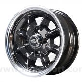 5.5 x 12 Superlight Wheel - Black/Polished Rim