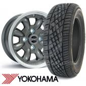"5.5"" x 12"" anthracite/polished rim Ultralite alloy wheel and Yokohama A539 tyre package"