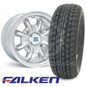 "6"" x 10"" silver original Minilite alloy wheel and Falken FK07E tyre package"