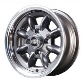 5.5 x 12 Superlight Wheel - Gunmetal/Polished Rim