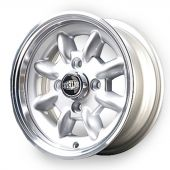 5 x 12 Superlight Wheel - Silver/Polished Rim