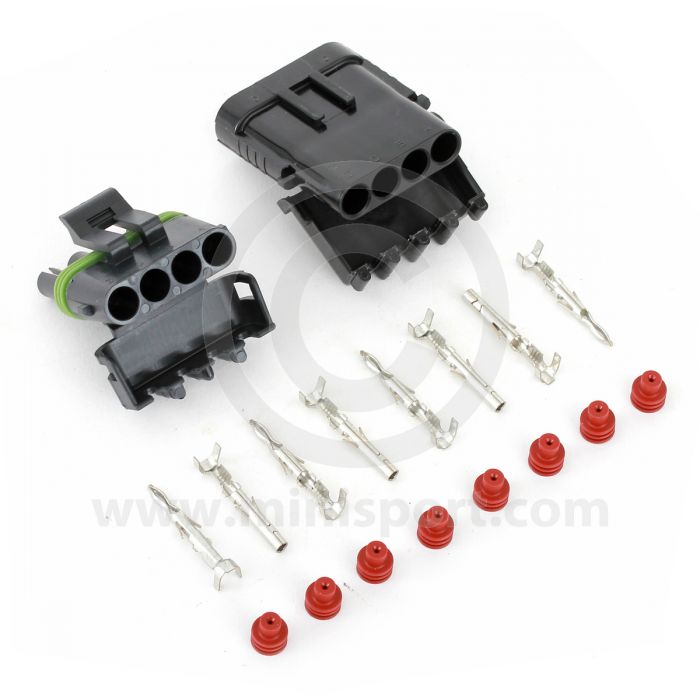 Waterproof Connector Four wire kit - 8amp